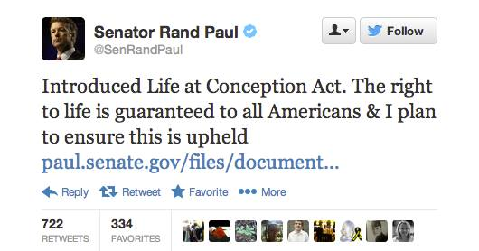 rand Paul Sanctity of Life