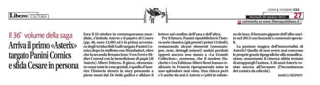 Libero, 20-10-2015 (Asterix e il papiro di Cesare)