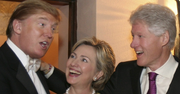 Donald Trump, Hillary Clinton, Bill Clinton