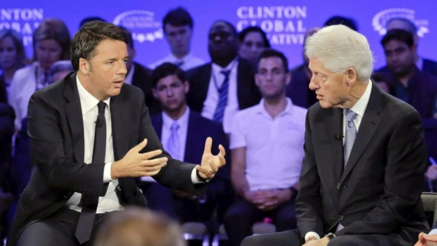 Matteo Renzi e Bill Clinton